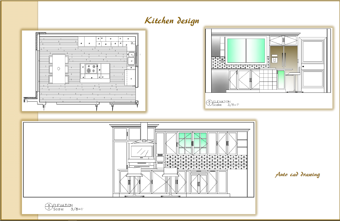 Kitchen AutoCad Drawing