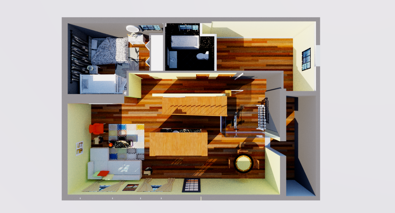 Basement - 3D Plan View